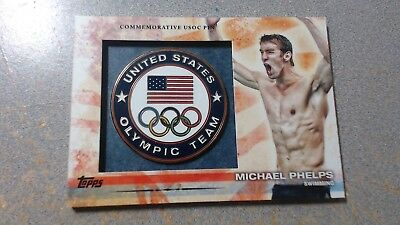 2012 Topps US Olympic Team  Michael Phelps UNITED STATES OLYMPIC PIN CARD