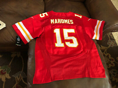 Patrick Mahomes Jersey Kansas City Chiefs NFL #15 Red Elite On Field Edition New
