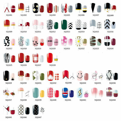 14 Tips Full Self Adhesive Nail Wraps Sticker Polish Foils Art Decals Stickers