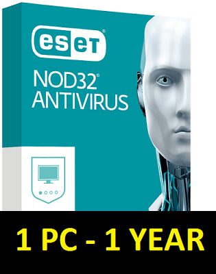 Eset Nod32 Antivirus 1 Pc 1Year