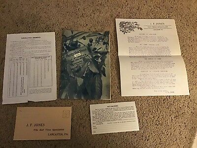 1930 J.F. Jones Nut Tree Catalog 1930 Lancaster PA + Letter Etc