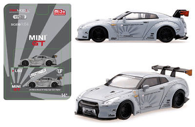"Mini GT 1:64 Liberty Walk Works ""Sora"" Nissan GT-R R35 Type I Zero Matte Grey"