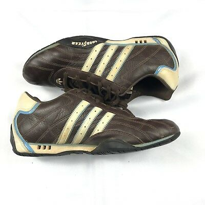 new arrival 0daa8 14e08 Team Adidas Adi Racer Goodyear Driving Brown Leather Mens Shoes Size 9