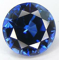 Excellent Cut Round 8 Mm. Blue Sapphire Lab Corundum
