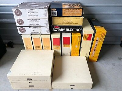 Lot Of 17 Carousel Slide Trays. Kodak 140 80 Model 2 100 Slide Trays *FAST SHIP*