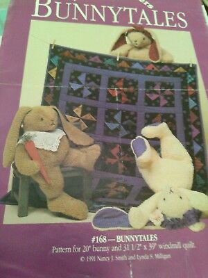 Bunny and quilt pattern with free bear pattern