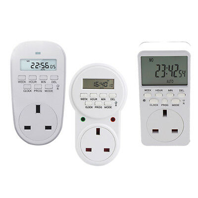 24 Hours One Day Programmable Digital LCD Timer Switch UK In Socket Outlet