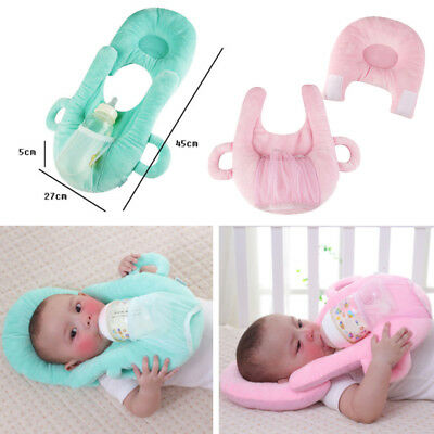 Infant Baby Nursing Cushion Anti Roll Prevent Flat Head Cushion Sleep Pillow US