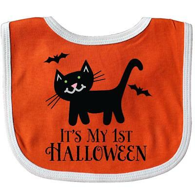 NEW Baby First Halloween Bib Too Cute to Spook Spider Web Spiderweb Waterproof