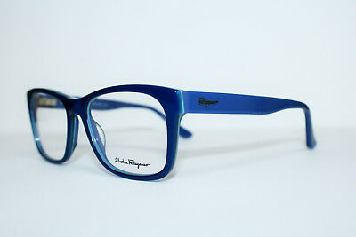 dd9c27f4b5 New Salvatore Ferragamo Sf2693 412 Blue Authentic Eyeglasses Rx 52-18-145 Mm