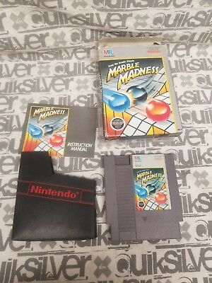 Marble Madness (Game,Sleeve,Manual and Box)(Nintendo NES, 1989)