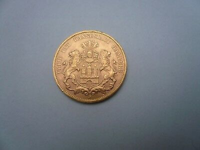 20 Mark Gold Hamburg 1913