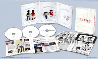 Erased Volume 1 & 2 Complete Collection Blu-Ray