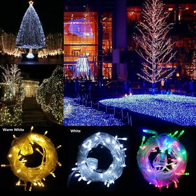 10M 100LEDs Outdoor Tail Plug Fairy String LED Lights Clear Cable Home Party