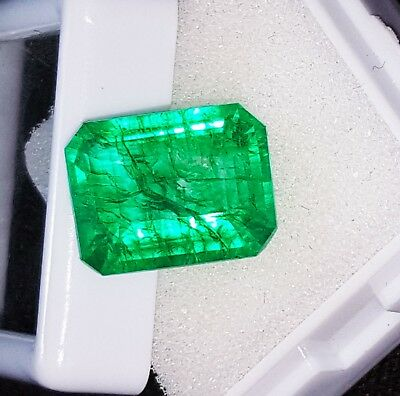 Loose Gemstone 8.02 Ct Natural Emerald Certified