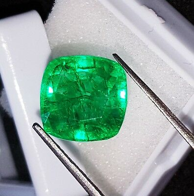 Natural Emerald Certified Loose Gemstone 7.12 Ct