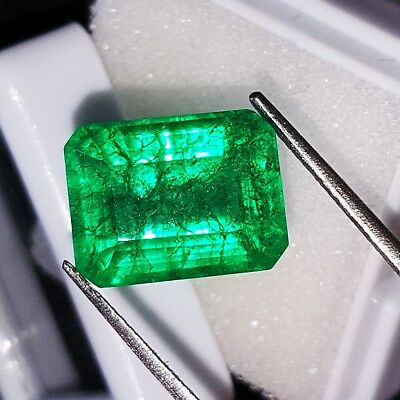 7.82 Ct Loose Gemstone Natural Emerald Certified