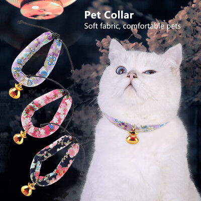 Cat Collar With Bell Kitten Kitty Paw Print Animals Neck Chain Pet Dog Collars