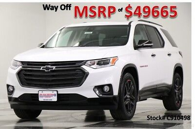 2019 Chevrolet Traverse MSRP$49665 Premier Summit White 3.6L V6 New Redline Edition Heated Cooled Leather Dual Sunroof Camera FWD 18 2018 19