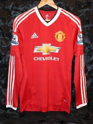 the latest 92bd9 3bd0a ANDER HERRERA MANCHESTER United Player Issue Ls Jersey Shirt 2015 2016  Adizero 5
