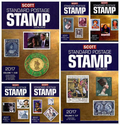 From Scott 2017 - Stamp catalogues 6 volumes (complete set)+ Bonuses (on DVD)