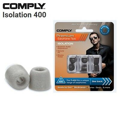 Comply Foam T-400 Isolation 3 Pairs In-Ear Earphone Tips Medium Platinum TS