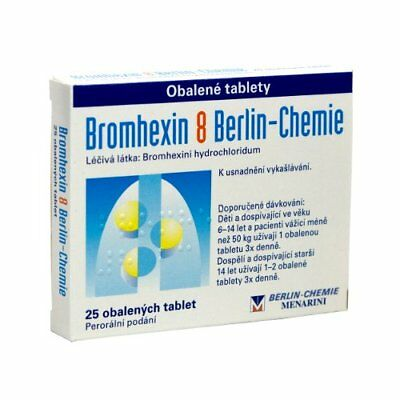 Bromhexine Berlin-Chemie-For Bronchal & lungs illnesses-25 tablets