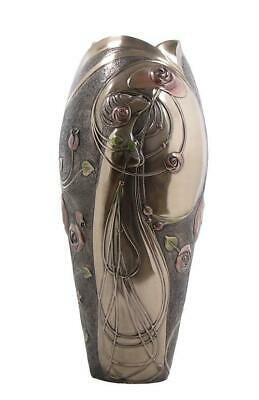 Rose & Lady Vase - Art Nouveau & Art Deco.