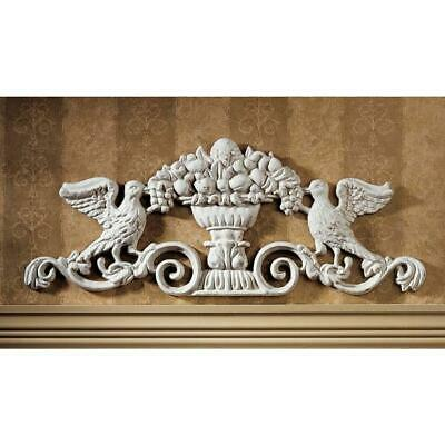 "9.5"" Victorian Art  Cast Iron Birds Grapes Architectural Wall Decor Ped..."