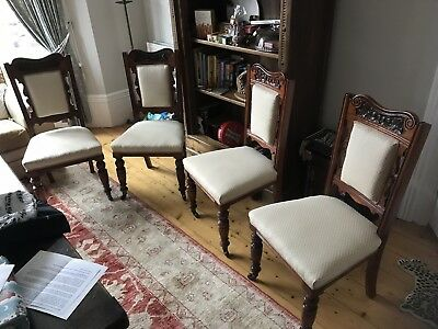 4 Dining chairs edwardian looking