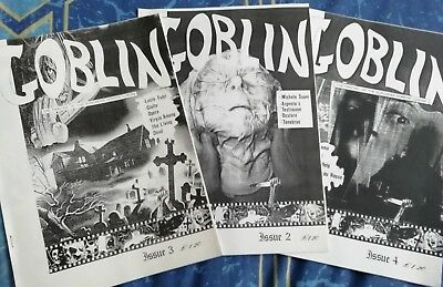 The Goblin Issues Two Three and Four Horror Fanzine Magazine European Cinema