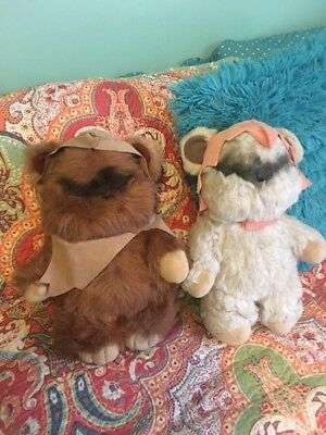 Vintage 1983 Ewok plush dolls