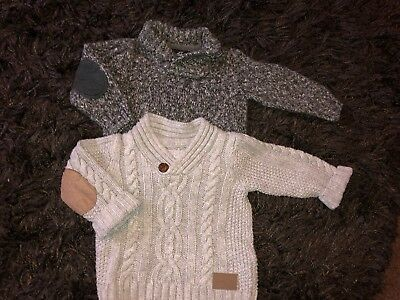 Chunky Knit Style Boys Jumpers 9-12 Months