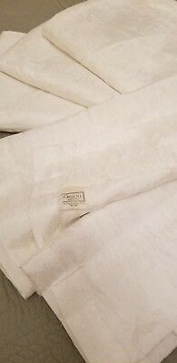 CROSCILL ~ White Shabby Chic Cottage 4 Pc. Curtain Panels