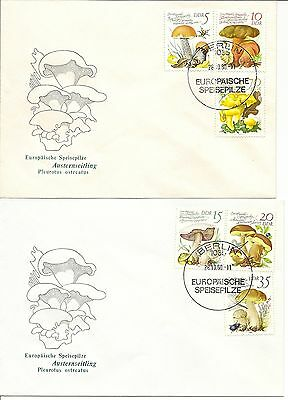 East Germany 1980-90 Illus Fdcs Virtually Complete (388)