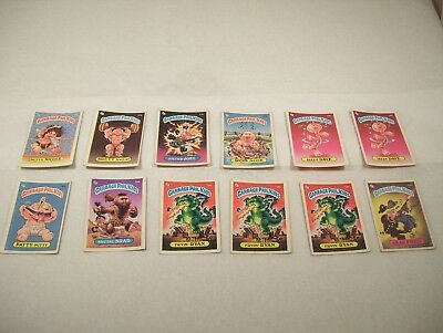 1985 Garbage Pail Kids Lot of 12 Cards NO RESERVE