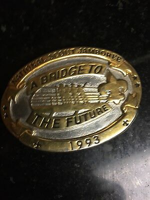 Limited Edition Belt Buckle From The 1993 National Scout Jamboree Texas Tuff