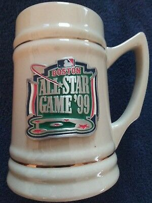1999 All Star Game Fenway Park Stein, White