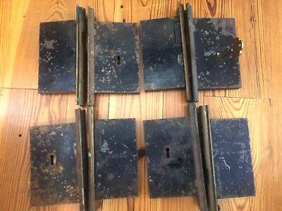 Four Pairs Sargent & Co Pocket Door Mortise Locks Signed Dated Nov 24 1885