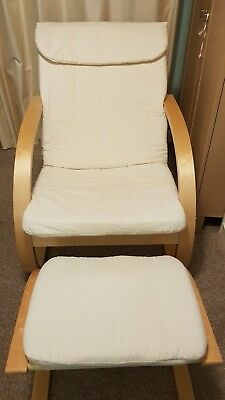 Natural Nursing Chair and Stool
