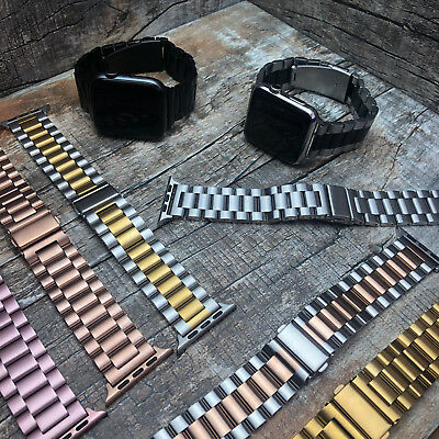 For Apple Watch Series 4 44mm 40mm Stainless Steel Butterfly Bracelet Strap Band
