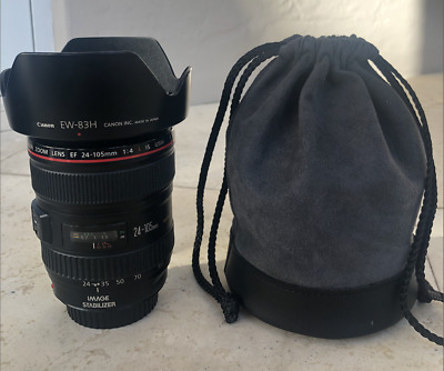 Canon EF 0344B002 24-105mm f/4 IS L AF USM Lens with Hood - GREAT CONDITION