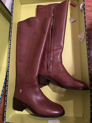 836aeba6ca3 NEW TORY BURCH Fulton Leather Knee High Boots Size 7 M Brown 55mm ...