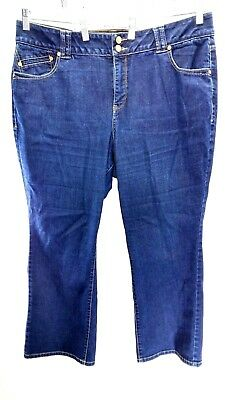 Lane Bryant Womens Jeans Size 20 Petite Straight Leg Tighter Tummy Technology