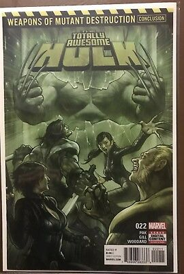 Totally Awesome Hulk 22 NM+ 1st Appearance Of Weapon H Weapon X Run