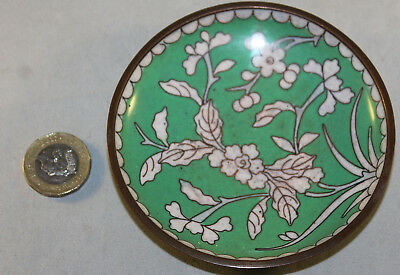 Antique Chinese Hand Painted Enamel Cloisonne Pin Dish