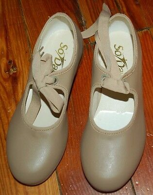 NEW!!! Girls So Danca Tan Tap Shoes Size 7.5S 7 1/2 Style TA32