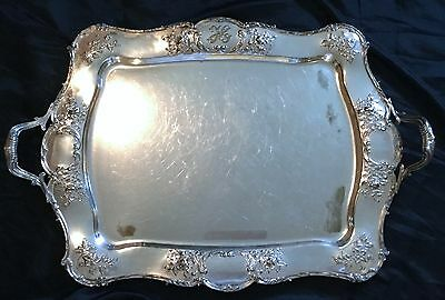 Antique Gorham American Repose Large Silver Plated Tray Pattern # 0169 ,marked