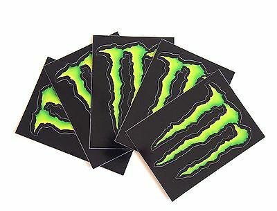 Set of 5 Monster Energy Drink Stickers Decals Skateboard, BMX, ATV