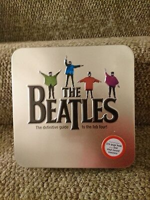 The Beatles New Tin Sealed Book And 4 Vinyl Record Coasters Rare